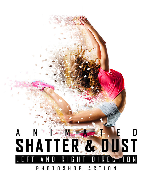 Animated Shatter & Dust Photoshop Action
