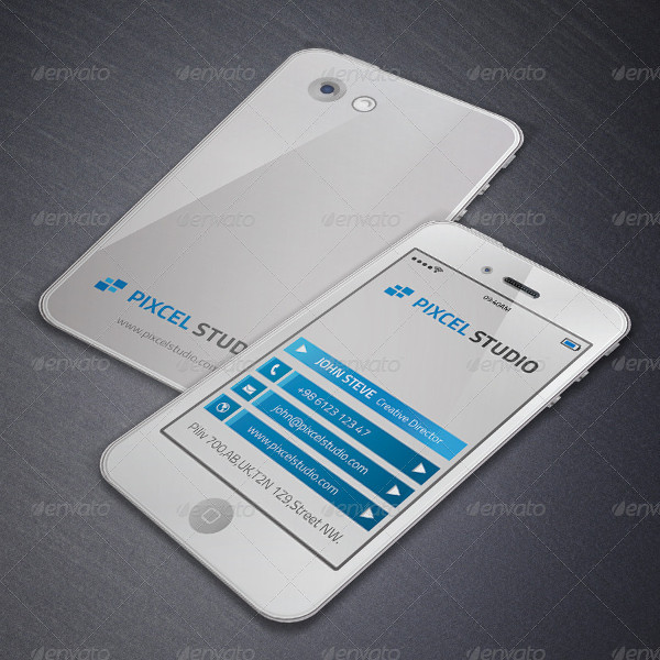 Smart Phone Creative Business Card