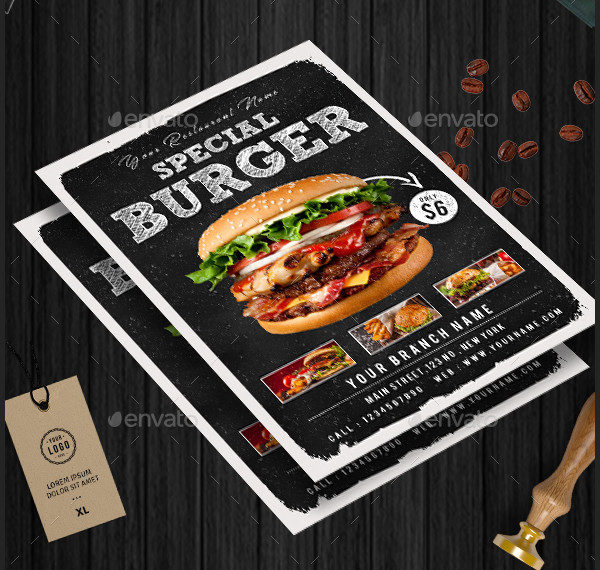 Special Burger Flyer Template