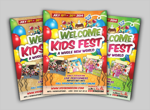 Unique Kids Festival Flyer