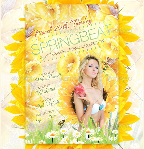 Spring Beat Fashion Flyer Template