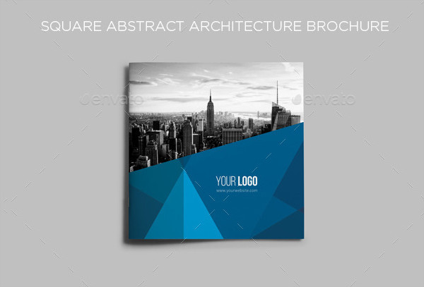 Square Abstract Architecture Brochure Template