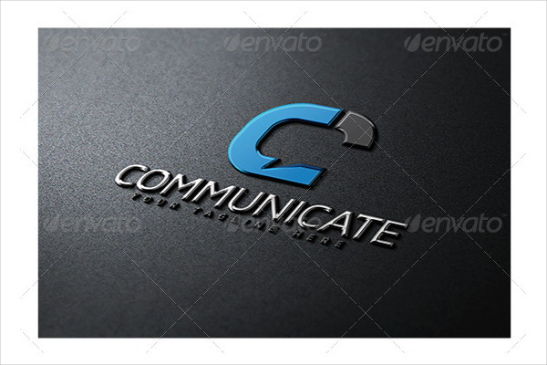 Stylish Communicate Logo Template