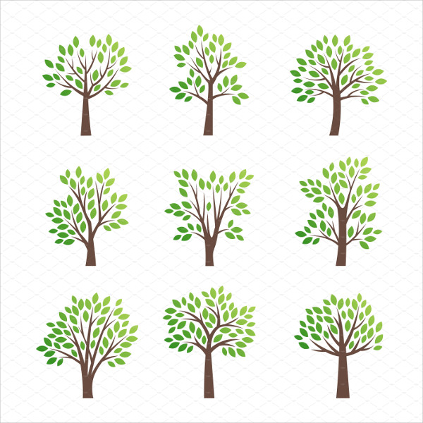Stylized Tree Vector Logo Template