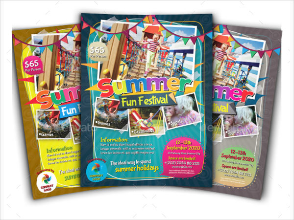 Summer Fun Festival Flyers for Kids