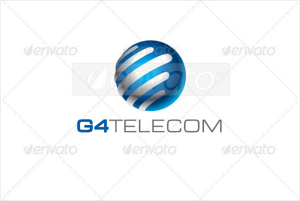 Telecom Communications Logo Template