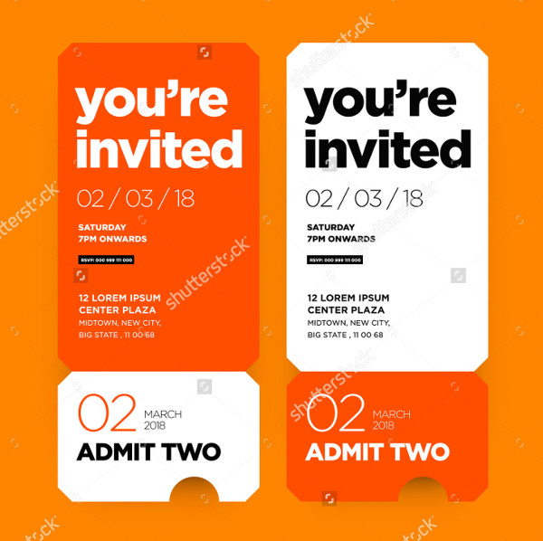 Ticket Invitation Templates  Free Psd Ai Eps Format Download