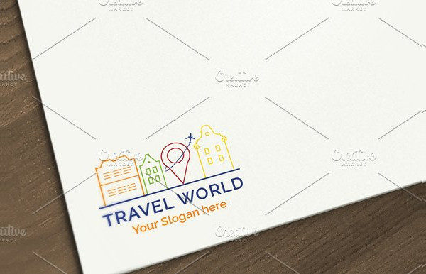 Travel World Logo Design Template