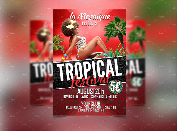 Tropical Festival Party Flyer Template