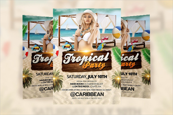 Tropical Event Party Flyer Template