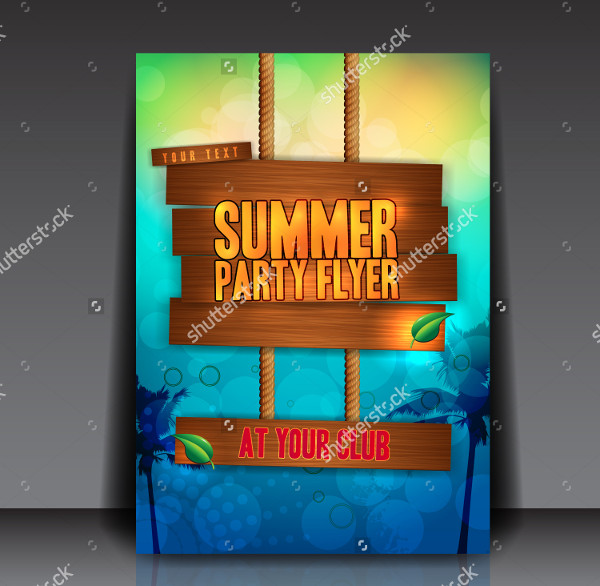 Tropical Party Club Flyer Template