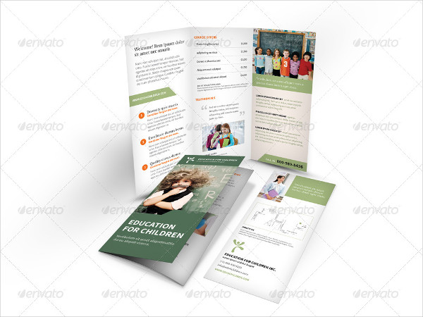 Modern Tri-Fold Brochure for Education & Tutoring Business