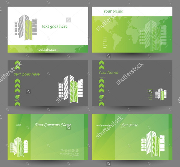 Set of Real Estate Business Cards