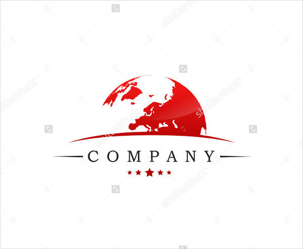 Global Business Logo Template Vector