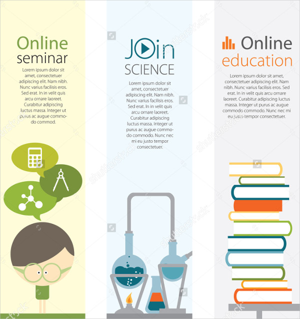Vertical Education Banners Set