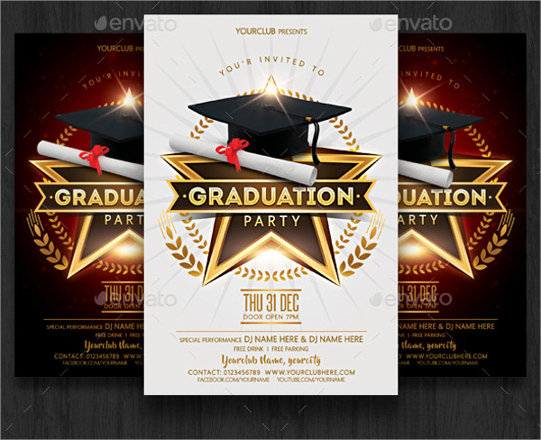 Vintage Flyer Template for Graduation Party