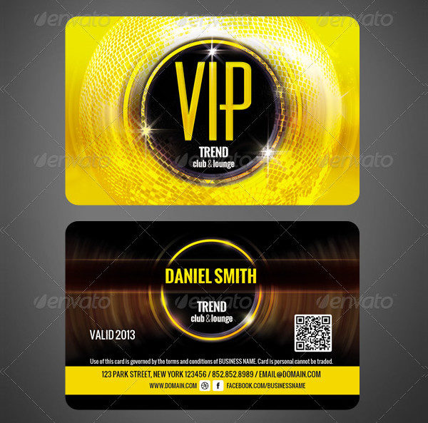 Club VIP Membership Card Template  Membership Card Template