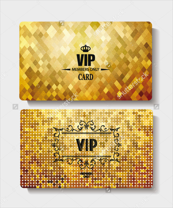 Modern VIP Gold Cards Template