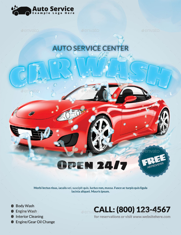 Flyer for Car Wash Center