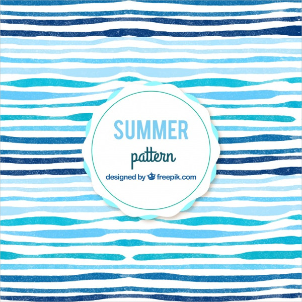 Watercolor Abstract Summer Pattern Background Free