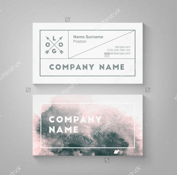 Trendy Watercolor Business Card Template