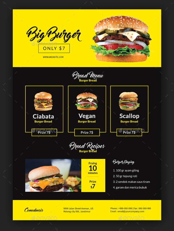 Western Burger Flyer Template