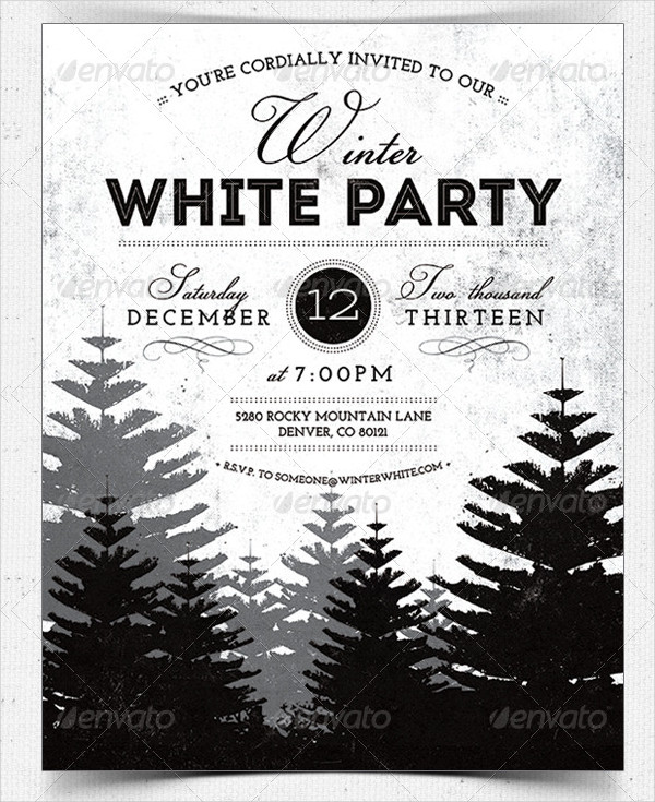 Winter Party Invitation Flyer