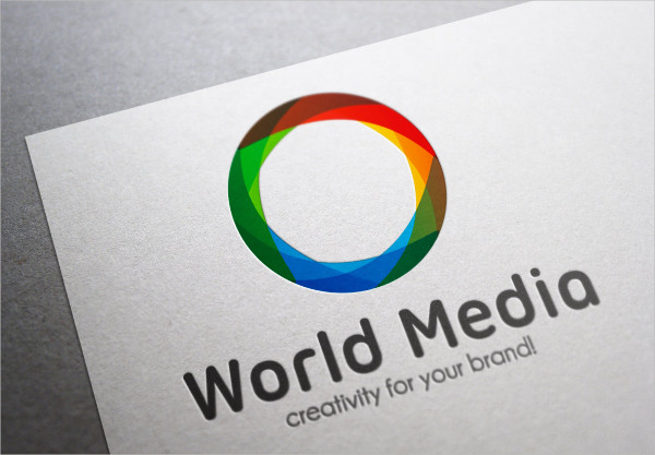 World Media Logo Template