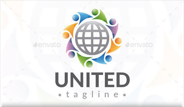 Colorful United World Logo Template