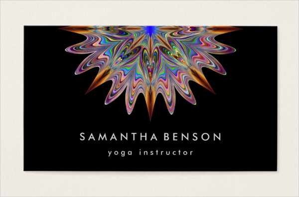 Yoga Flower Logo Business Card