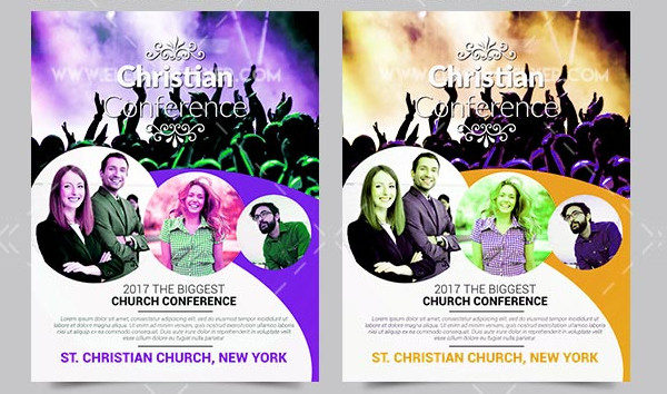 Free PSD Church Conference Flyer Template