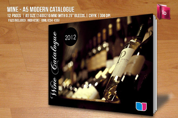 Modern Brochure Template for Wine