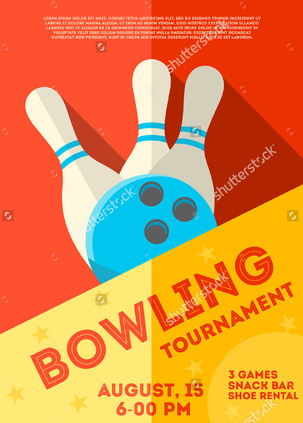Abstract Bowling Tournament Flyer
