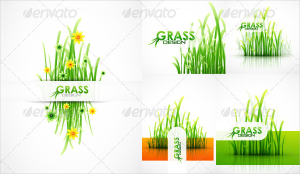 Backgrounds Designs with Grass