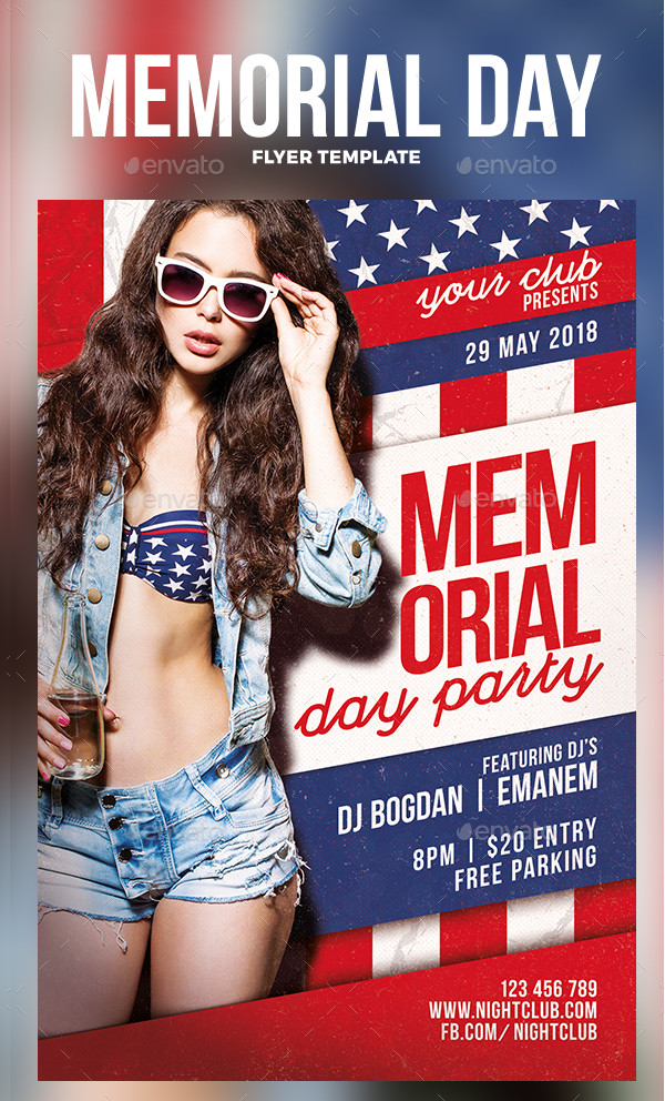 Print Ready Memorial Day Flyer Template