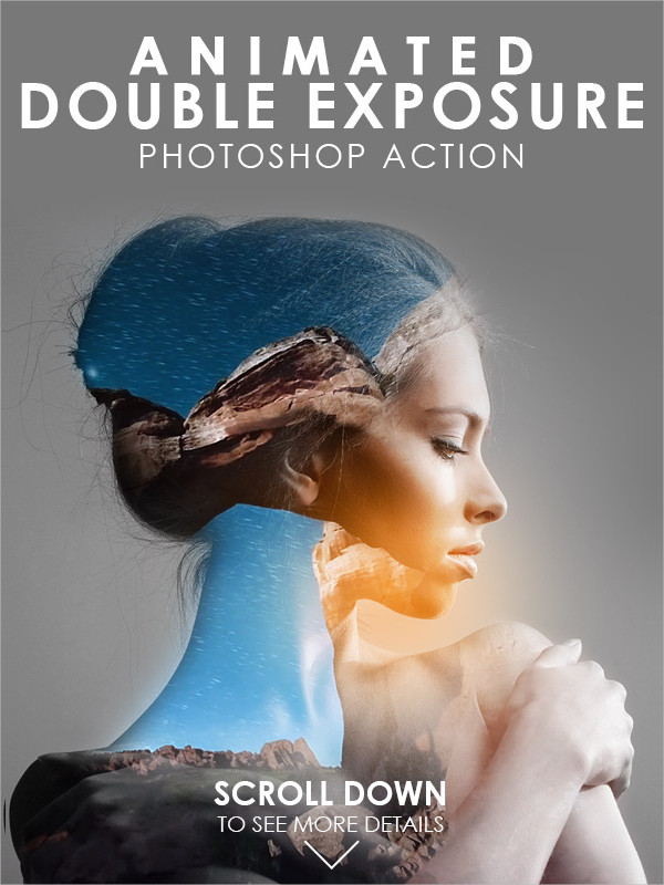 Animated Double Exposure Photoshop Actions