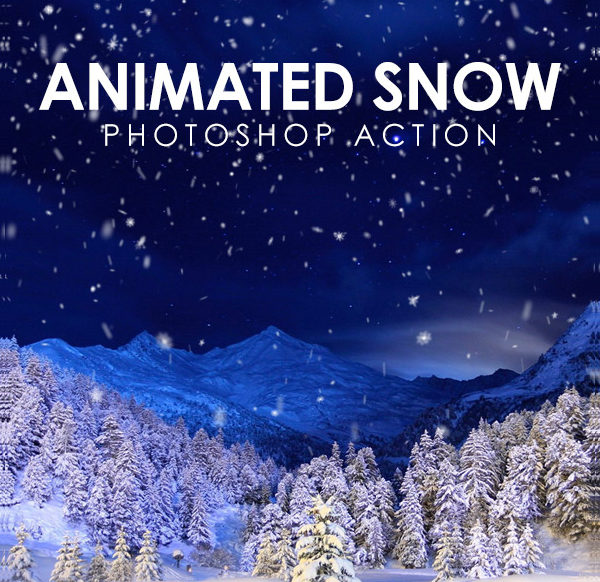 Animated Professional Snow Photoshop Action