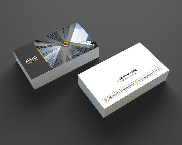 25 construction business card templates free premium for Architecture and design company