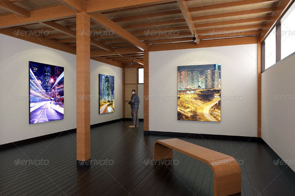 Art Gallery Interior Mockups