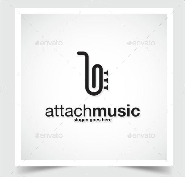 Attach Music Logo Template