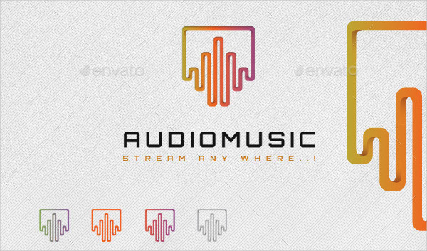Audio Music Studio Logo Template