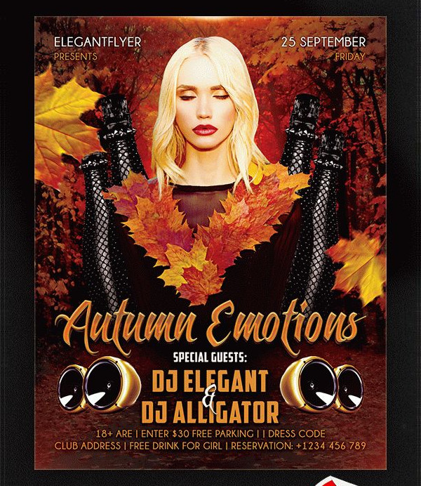 Autumn Emotions Free Flyer Template