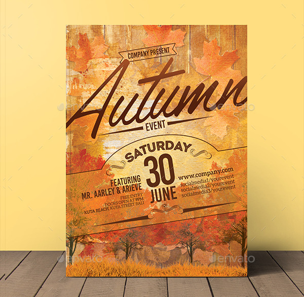 Autumn Event Flyer Invitations