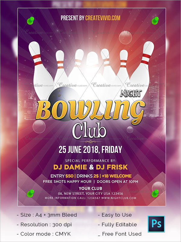 Best Bowling Flyer Download
