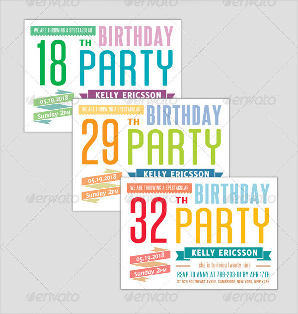Birthday Invitation Typography - Big Event