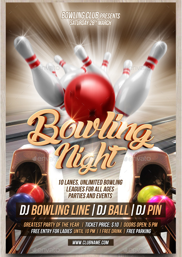 Bowling Event Flyer Template