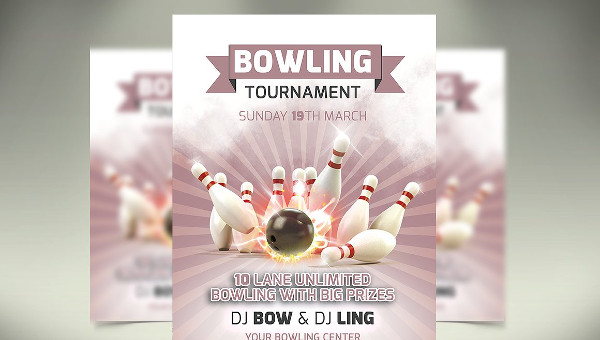 Bowling Flyer Templates  Psd Ai Eps Vector Format Download