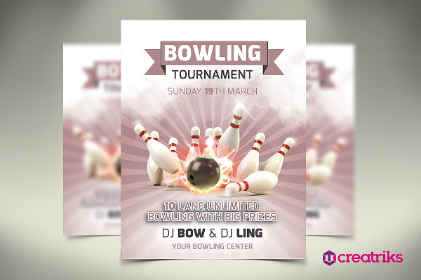 Bowling Vacation Tournament Flyer