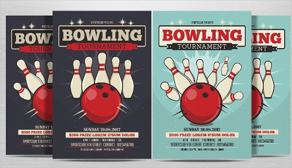 Bowling Game Night Flyer Template