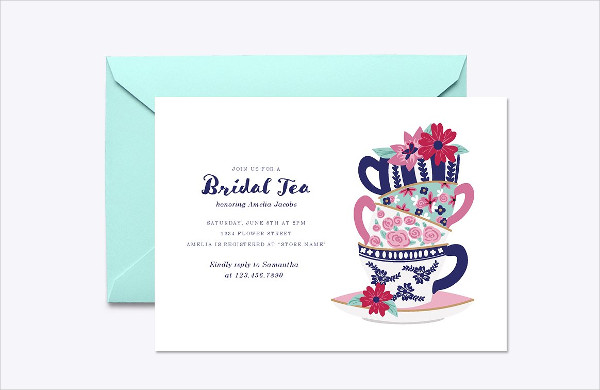 Bridal Tea Invitation Template